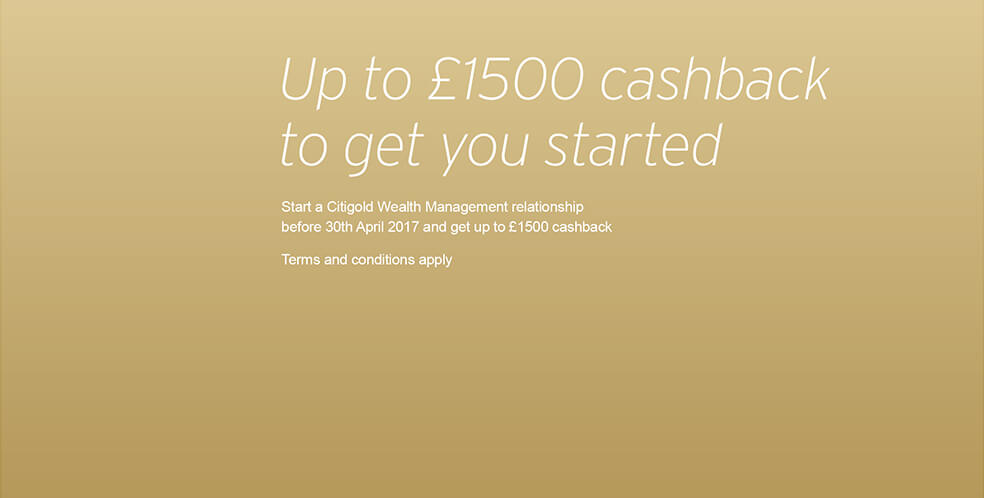 Up to £1500 cashback to get you started
