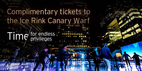 Entry to Ice Rink Canary Wharf will be exclusive for Citigold clients and a guest*